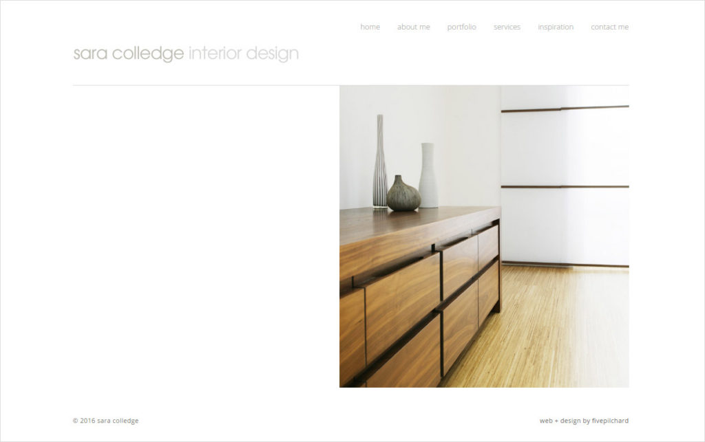 Sara Colledge website by Fivepilchard