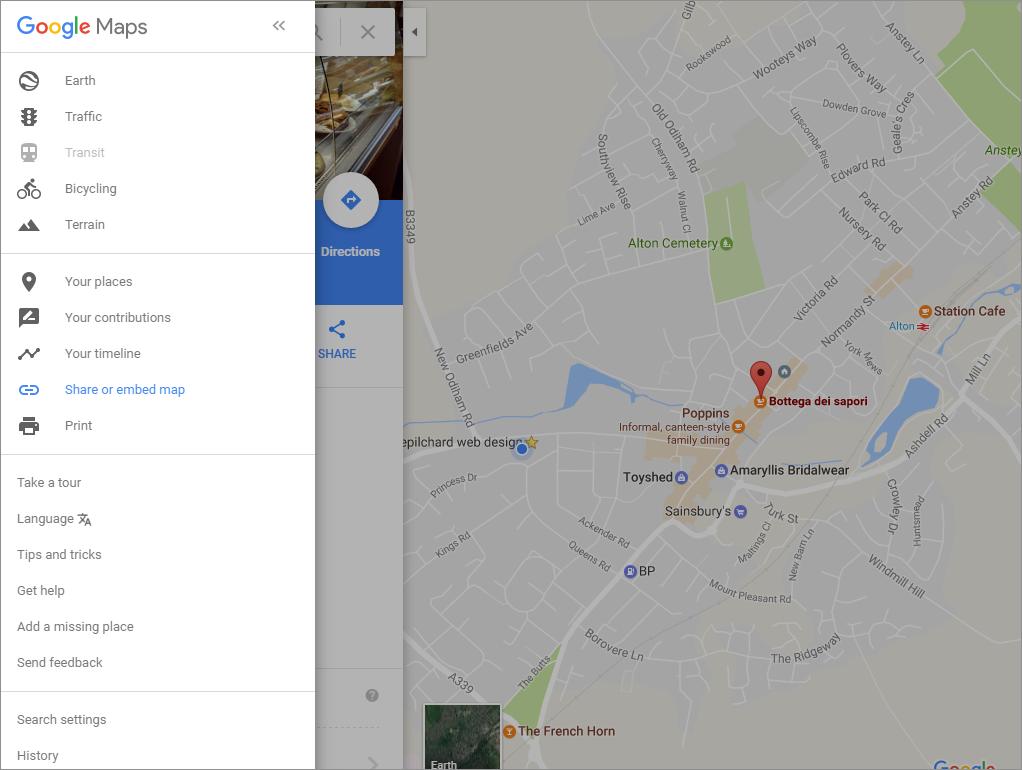 Embedding a Google map